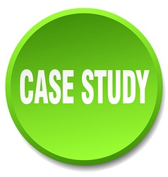 Case study green round flat isolated push button vector