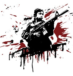 Child soldier vector