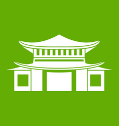 Chinese icon green vector
