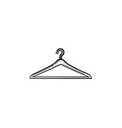 clothes hanger hand drawn outline doodle icon vector image