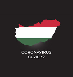 coronavirus in hungary and country flag inside vector image