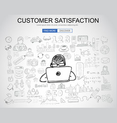 Customer satisfaction concept with business vector