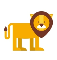 Cute lion isolated icon design vector