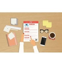 CV template presentation vector