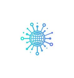Earth share logo icon design vector