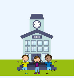 elementary school design vector image