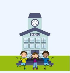elementary school design vector image