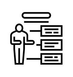 Employee different characteristics line icon vector