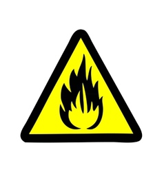 fire symbol sign vector image
