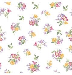 Floral ornamental seamless pattern flower garden vector