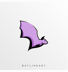 Fly bat template vector
