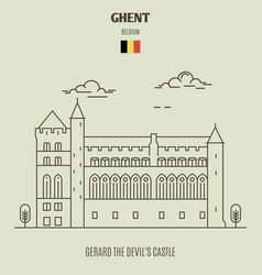 Gerard the devils castle in ghent vector