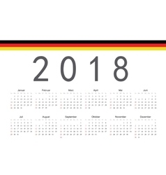 German 2018 year calendar vector