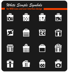 Gifts icon set vector