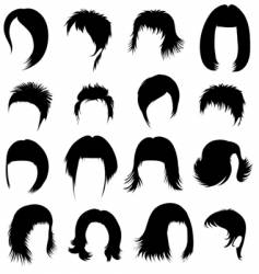 hair styling vector image vector image