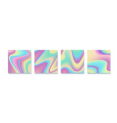 hologram abstract backgrounds set with white vector image