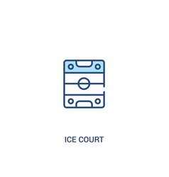 Ice court concept 2 colored icon simple line vector