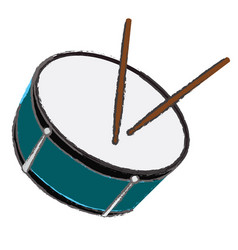 Isolated drum vector