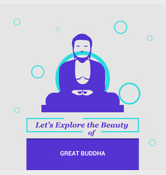 lets explore the beauty of great buddha kamakura vector image