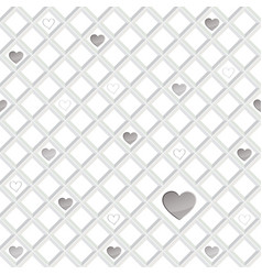 love heart seamless pattern valentine day holiday vector image
