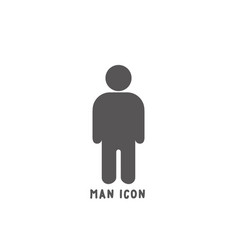 man icon simple flat style vector image