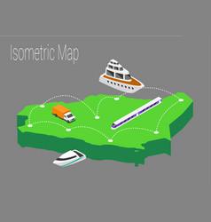 Map saudi arabia isometric concept vector