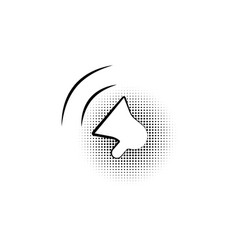 megaphone sign black icon in bubble on a vector image