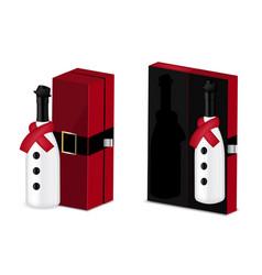 mock up realistic christmas wine vector image