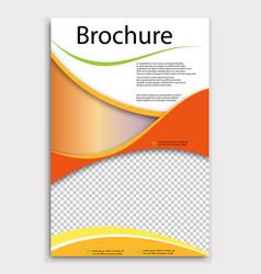 Modern geometric business brochure flyer poster vector