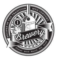monochrome for design brewery vector image