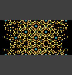 Moroccan rich luxury mosaic border vector