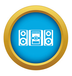 music center icon blue isolated vector image