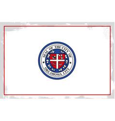 Oklahoma city flag vector