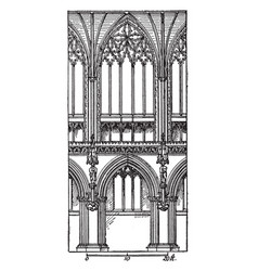 One bay of choir lichfield cathedral growing vector