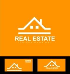 Orange real estate company logo icon vector