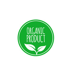 Organic food label and high quality product badge vector