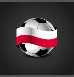 Poland flag around the football vector