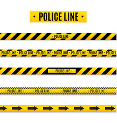 Police isolated insulation line realistic warning vector