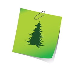 Reminder with pine tree green vector
