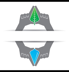 Save nature concept vector