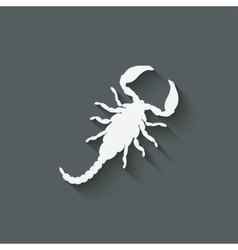 Scorpion design element vector