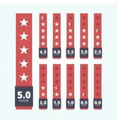 set star rating badges vector image