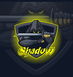 shadow assassin logo mascot esport team or print vector image