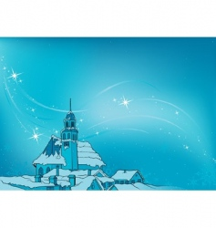 snowy christmas vector image