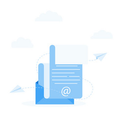 Subscribe to newsletter concept open message vector