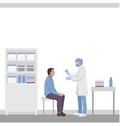 test for throat infection coronavirus covid19 19 vector image