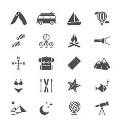 traveling flat icons vector image
