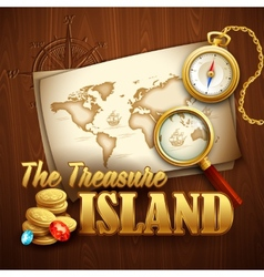 Treasure Island template vector image