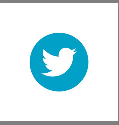 Twitter logotype printed on paper social vector