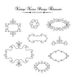 Vintage decorations elements vector
